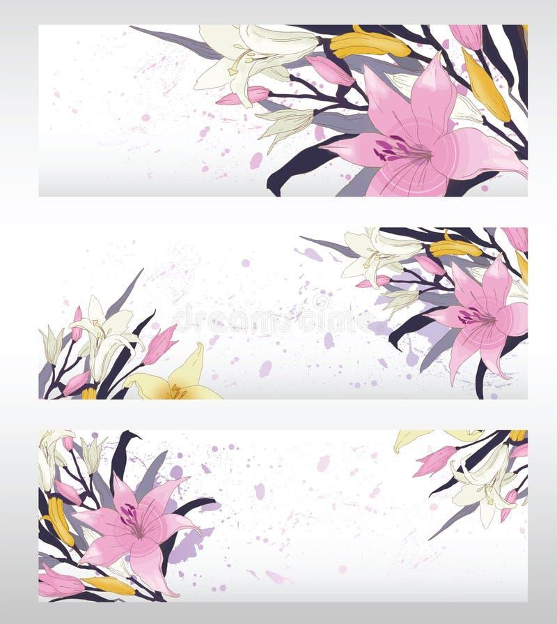 Diseño del vector de Lilly imagenes de archivo