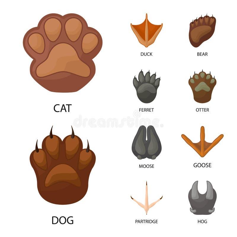 Diseño del vector de logotipo del animal y de la impresión Fije de animal y del símbolo común de la huella para la web libre illustration