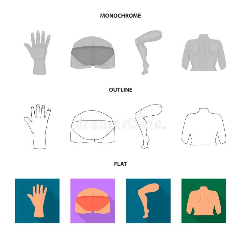 Diseño del vector de logotipo del cuerpo y de la parte Colección de icono del vector del cuerpo y de la anatomía para la acción libre illustration