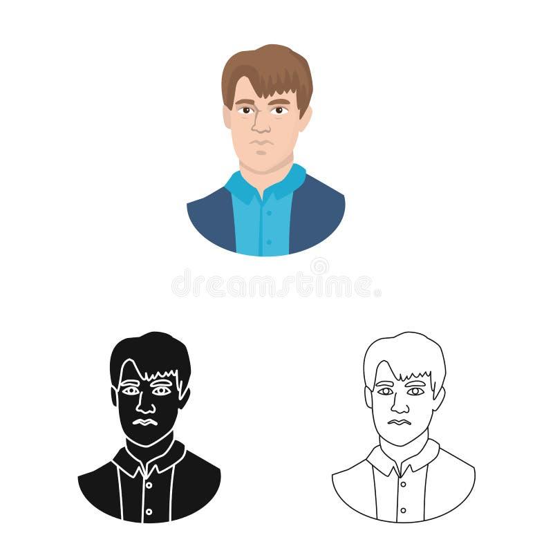 Diseño del vector de logotipo del hombre y de la cara Fije de hombre y del símbolo común joven para la web libre illustration