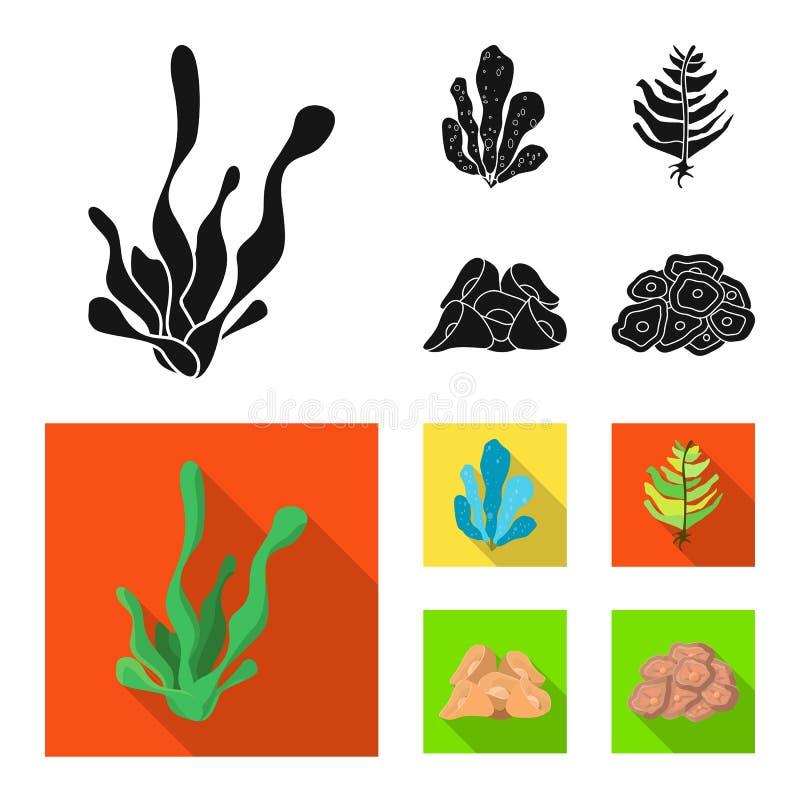 Diseño del vector de logotipo de la biodiversidad y de la naturaleza Colección de biodiversidad y de símbolo común de la fauna pa stock de ilustración