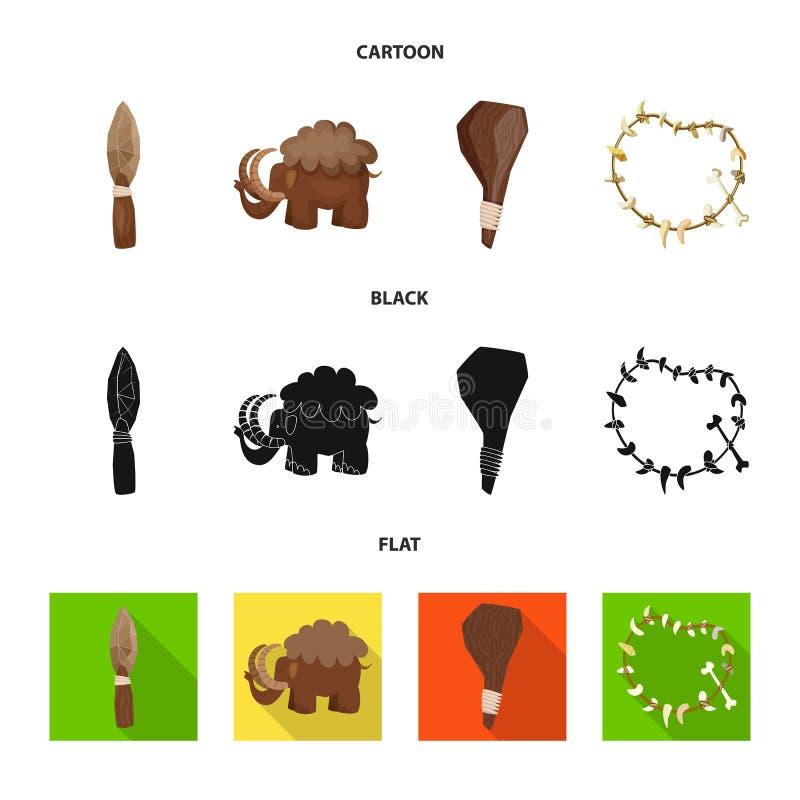 Diseño del vector de logotipo de la evolución y de la prehistoria Colección de icono del vector de la evolución y del desarrollo  stock de ilustración