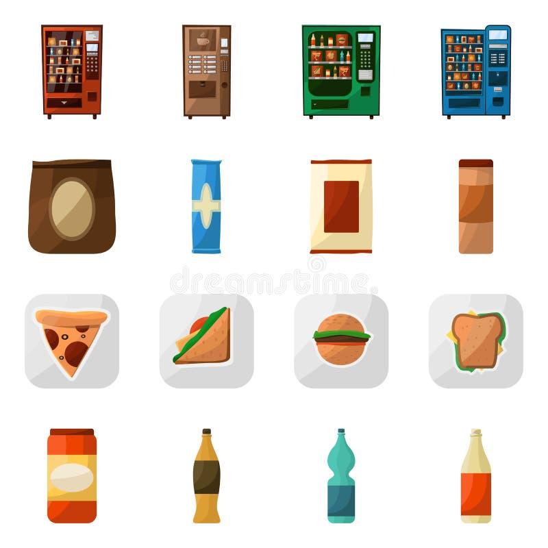 Diseño del vector de logotipo de la venta y del servicio Colección de símbolo común de la venta y del bocado para la web ilustración del vector