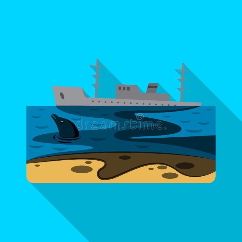 Diseño del vector de logotipo natural y del desastre Sistema del icono natural y del riesgo del vector para la acción stock de ilustración