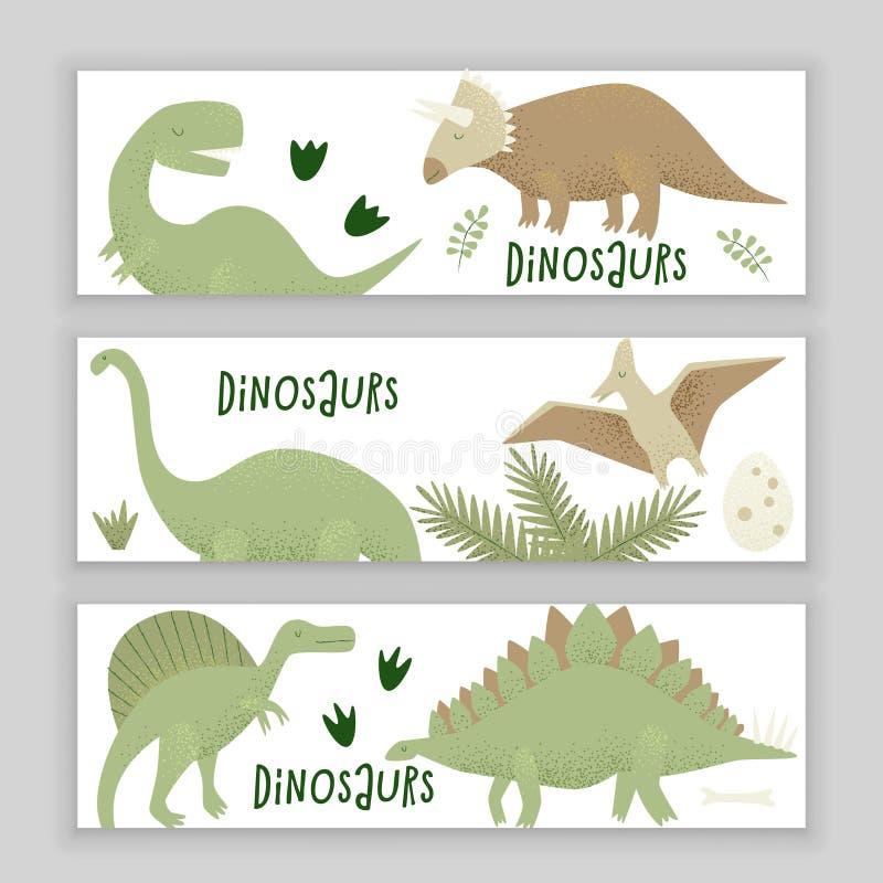 Diseño del vector de los dinosaurios, rex del tiranosaurio ilustración del vector