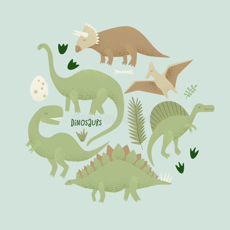 Diseño del vector de los dinosaurios, rex del tiranosaurio libre illustration