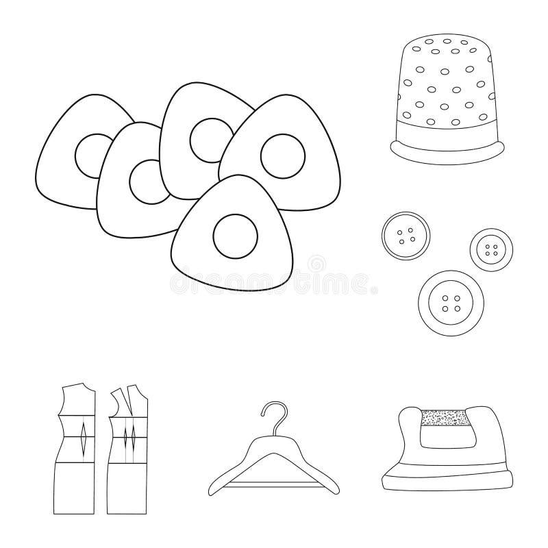 Diseño del vector de moda y de icono de la adaptación Fije de la moda y del s?mbolo com?n de la materia textil para la web libre illustration