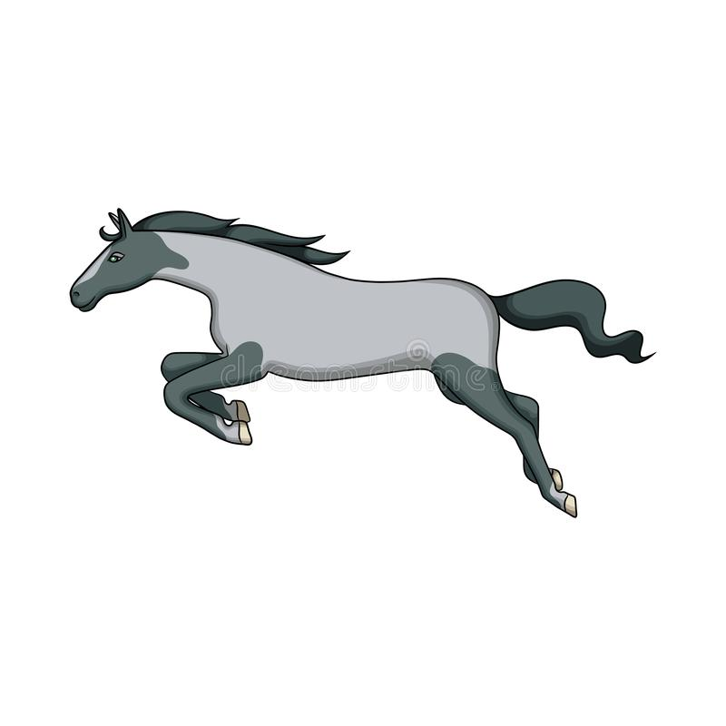 Diseño del vector de muestra del caballo y del galope Fije de caballo y del ejemplo común ungulado del vector ilustración del vector