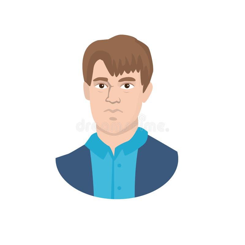 Diseño del vector de muestra del hombre y de la cara Fije de hombre y del ejemplo común joven del vector ilustración del vector