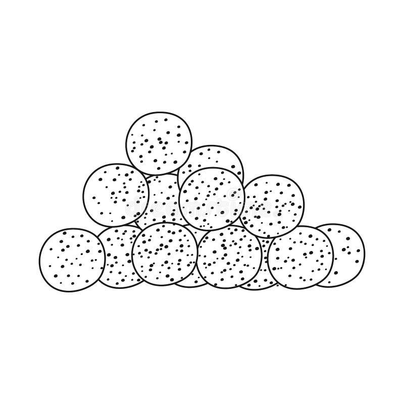 Diseño del vector de muestra del maíz y de la escama Fije del icono del vector del ma?z y del bocado para la acci?n ilustración del vector