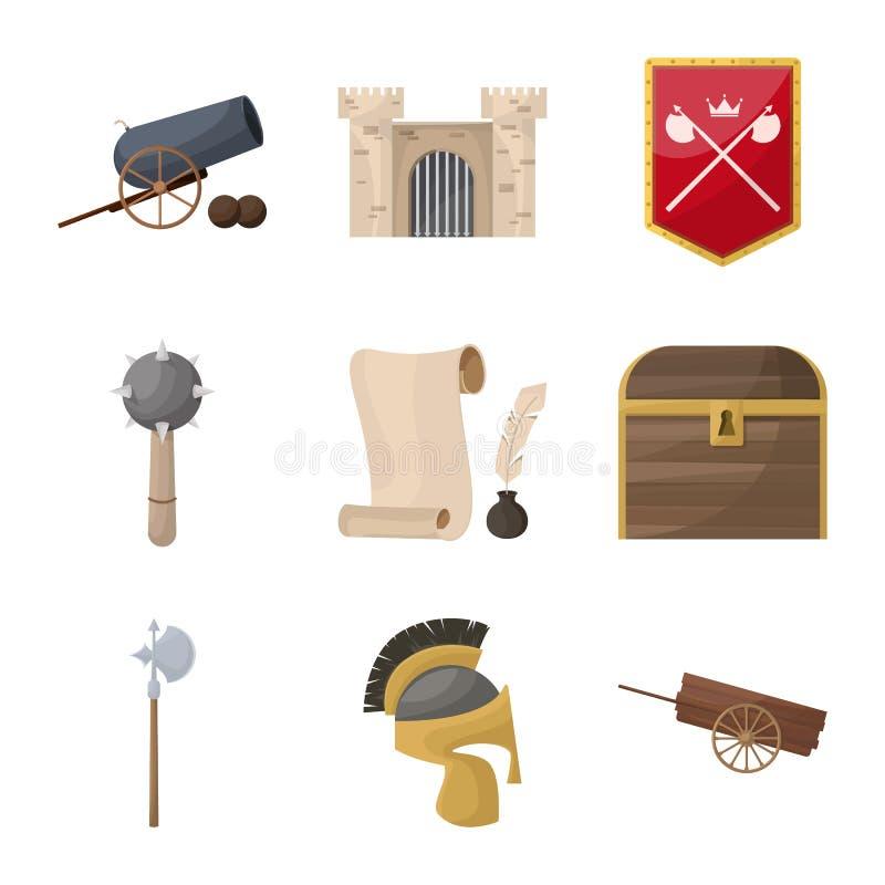 Diseño del vector de muestra medieval y de la historia Colección de ejemplo medieval y del torneo de la acción del vector libre illustration