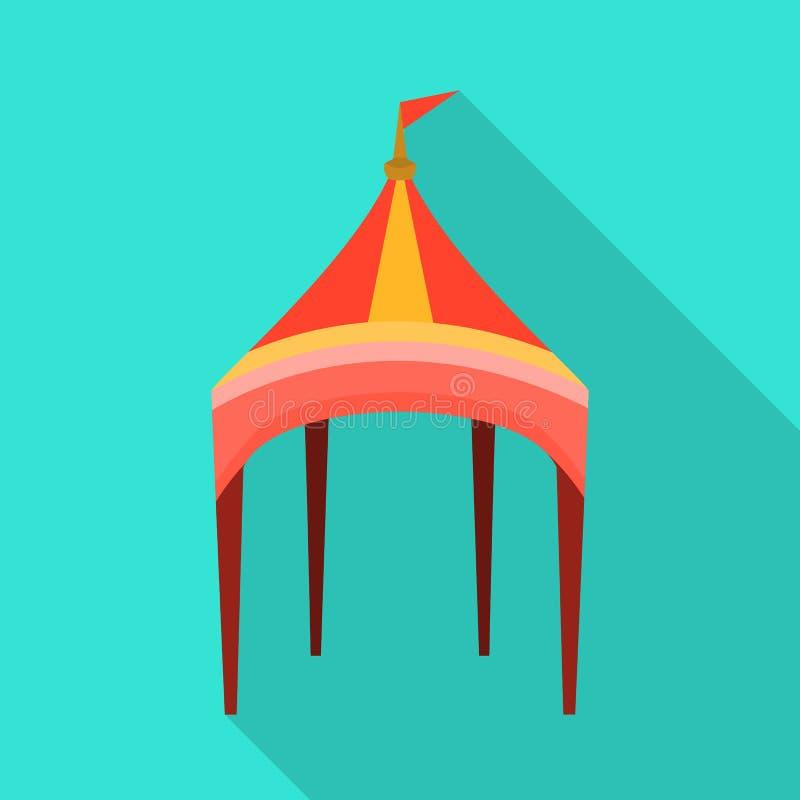 Diseño del vector de muestra del toldo y de la tienda Fije del símbolo común del toldo y de la sombrilla para la web ilustración del vector