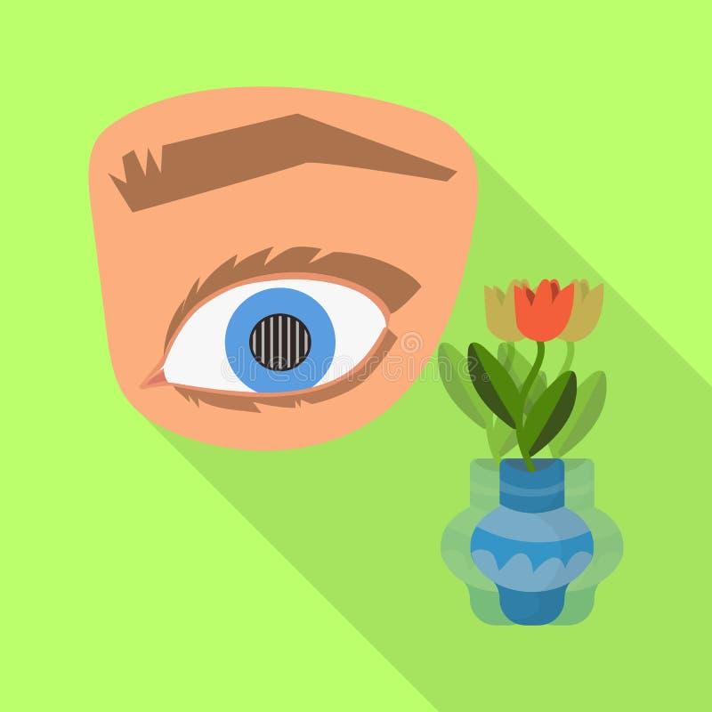 Diseño del vector de ojo y de símbolo pobre Fije de ojo y del símbolo común de la ceguera para la web libre illustration