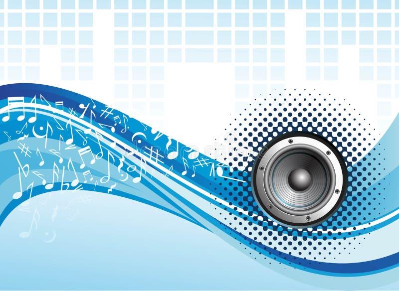 Diseño del vector de onda de la música libre illustration