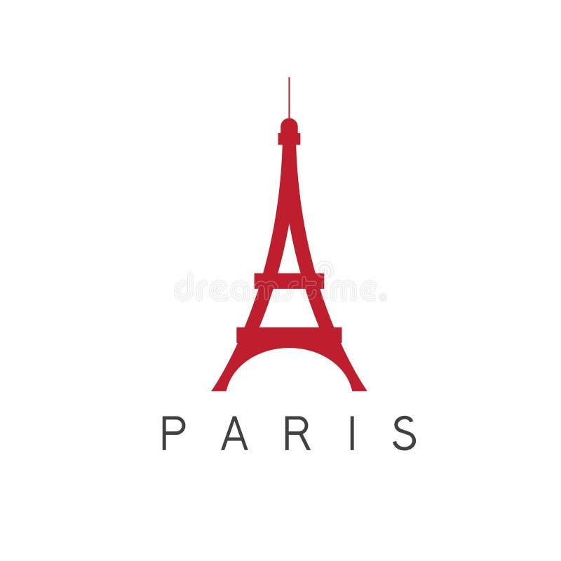 Diseño del vector de París Francia de la torre Eiffel ilustración del vector
