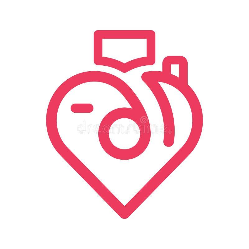 Diseño del vector de Phothography Logo Line del amor ilustración del vector