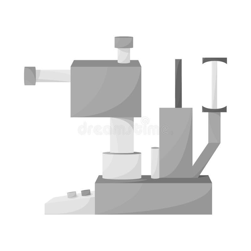 Diseño del vector de símbolo del aparato y del equipo Fije del ejemplo del vector de la acción del aparato y del ojo ilustración del vector