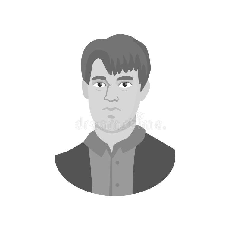 Diseño del vector de símbolo del hombre y de la cara Fije de hombre y del ejemplo común joven del vector ilustración del vector