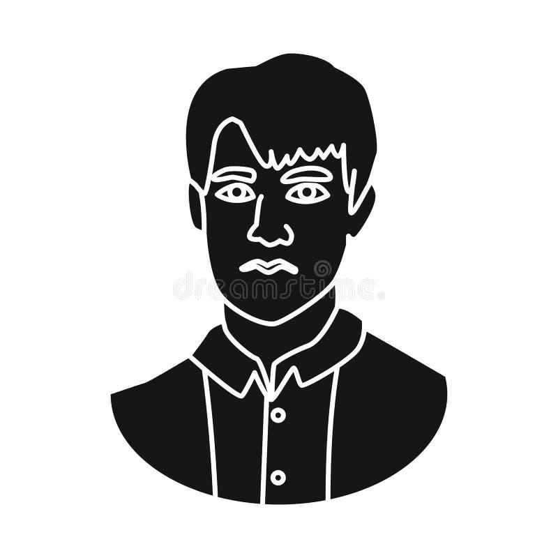 Diseño del vector de símbolo del hombre y de la cara Fije de hombre y del icono joven del vector para la acción stock de ilustración