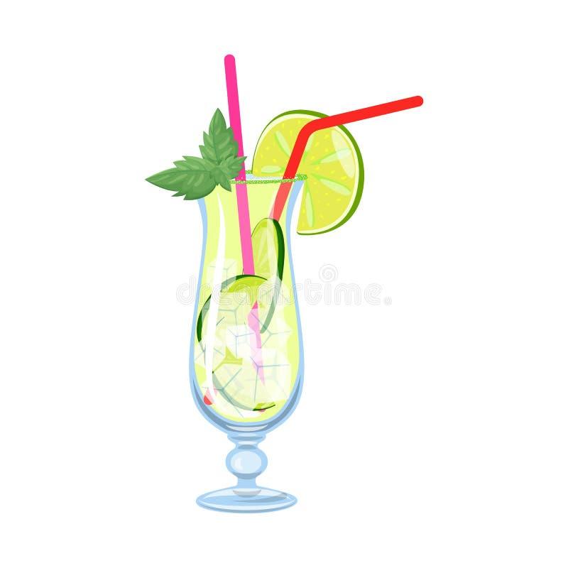 Diseño del vector de símbolo de la limonada y de la cal Colección de icono del vector de la limonada y de la menta para la acción stock de ilustración