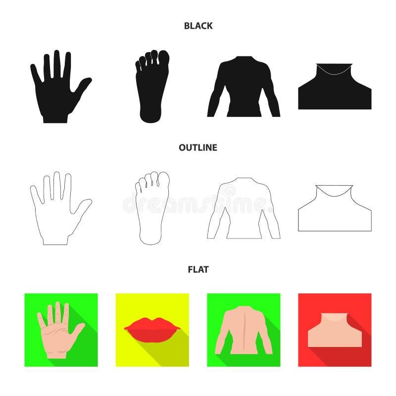 Diseño del vector de símbolo del ser humano y de la parte Colección de icono del vector del ser humano y de la mujer para la acci stock de ilustración