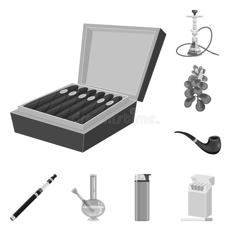 Diseño del vector de salud y de icono de la nicotina Fije del ejemplo común del vector de la salud y de las estadísticas ilustración del vector