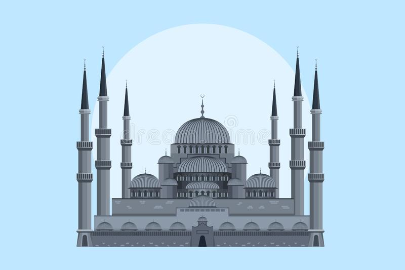 Diseño del vector de Sultan Ahmed Mosque - de Turquía libre illustration