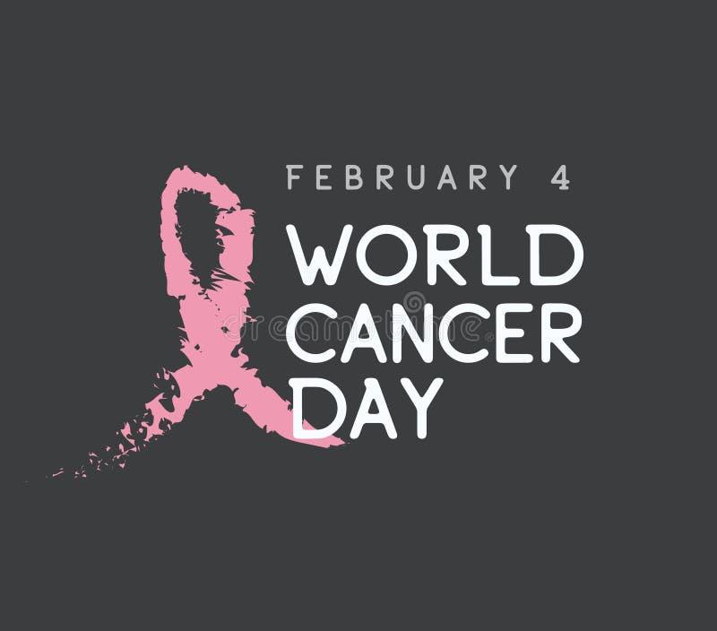 Diseño del vector del día del cáncer del mundo ilustración del vector