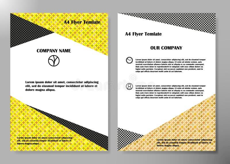 Diseño del vector del folleto del negocio de la cubierta del aviador, prospecto que hace publicidad del fondo abstracto, plantill ilustración del vector