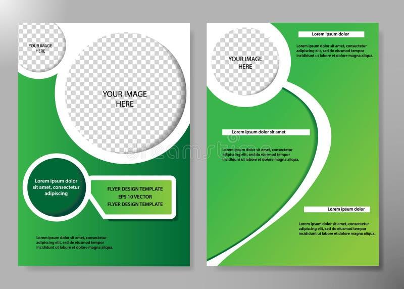 Diseño del vector del folleto del negocio de la cubierta del aviador, prospecto que hace publicidad del fondo abstracto, plantill stock de ilustración