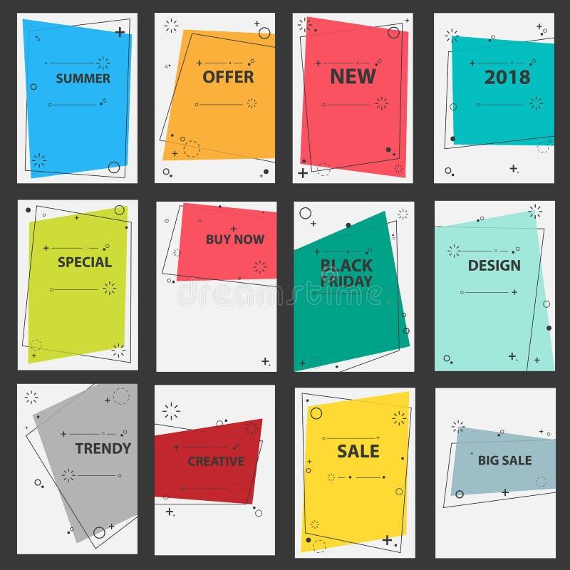 Diseño del vector del folleto del negocio del vector geométrico ilustración del vector