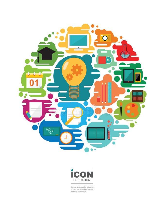 Diseño del vector del icono de la EDUCACIÓN libre illustration