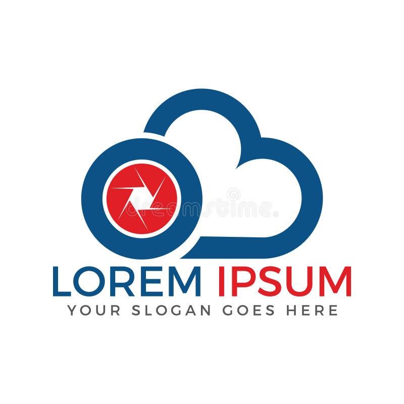 Diseño del vector del logotipo de la cámara de la nube Icono de la fotografía ilustración del vector