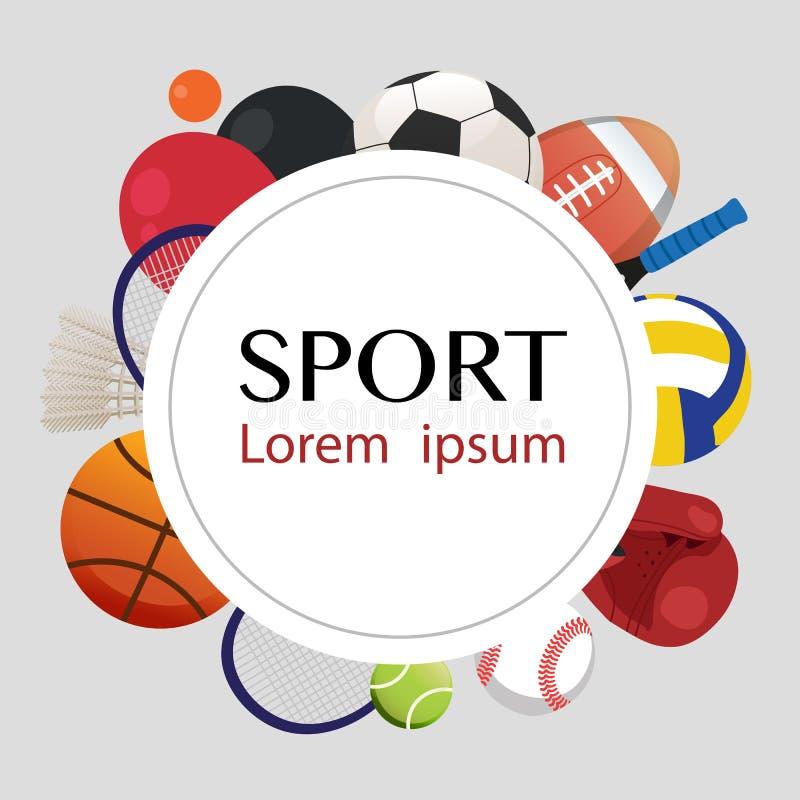 Diseño del vector del equipo de deportes libre illustration