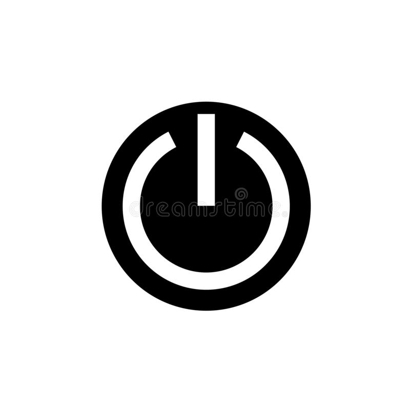 Diseño del vector del icono del botón de encendido stock de ilustración