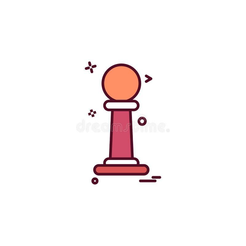 diseño del vector del icono de la película de Óscar stock de ilustración