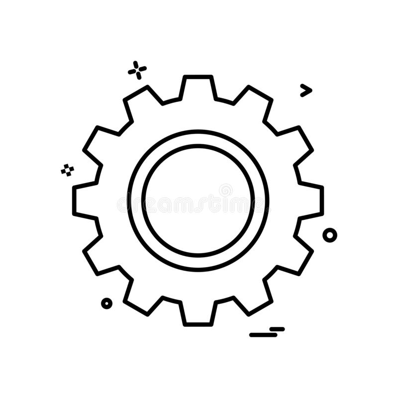 diseño del vector del icono del engranaje libre illustration