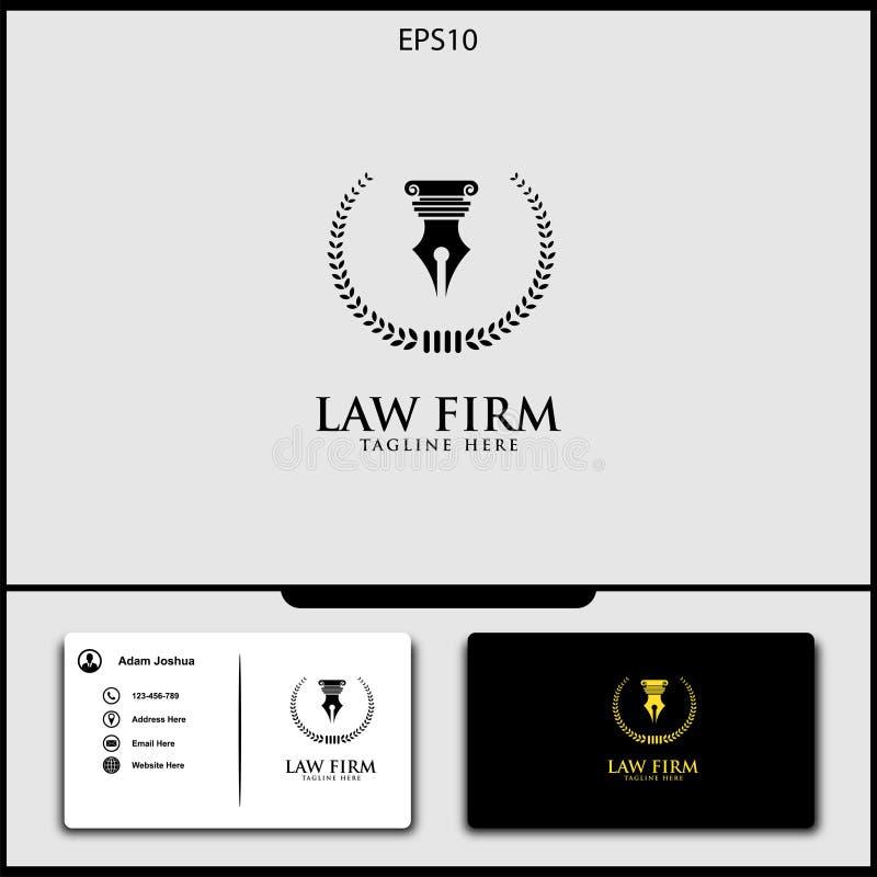 diseño del vector del logotipo del abogado de ejemplo del vector de la justicia libre illustration