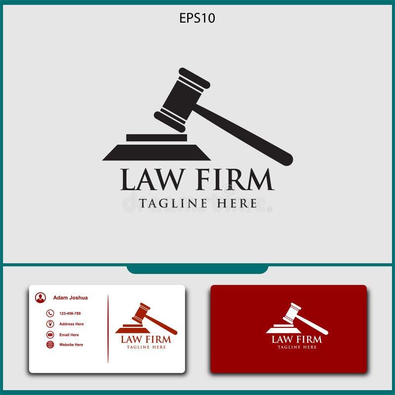 diseño del vector del logotipo del abogado de ejemplo del vector de la justicia ilustración del vector