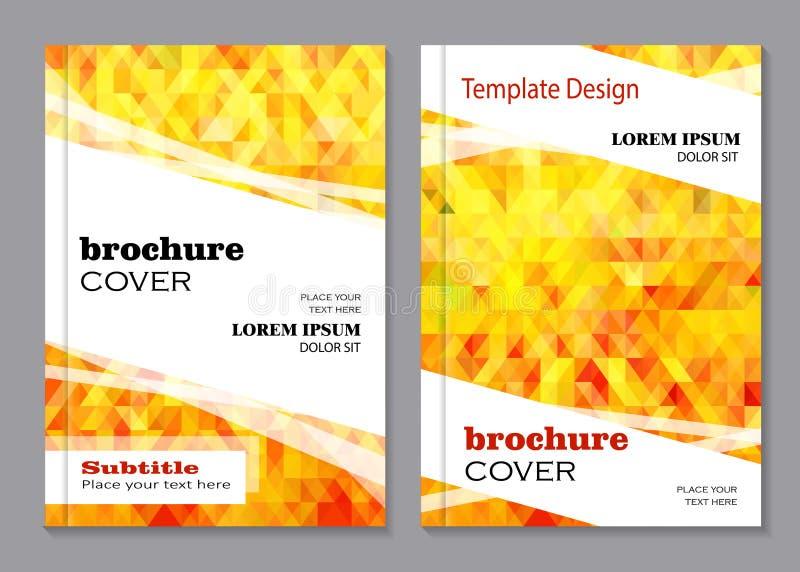 Diseño del vector para la cubierta del folleto stock de ilustración