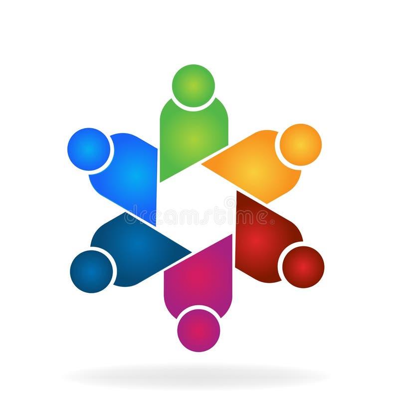 Diseño del vector del trabajo en equipo de la comunidad de la gente ilustración del vector