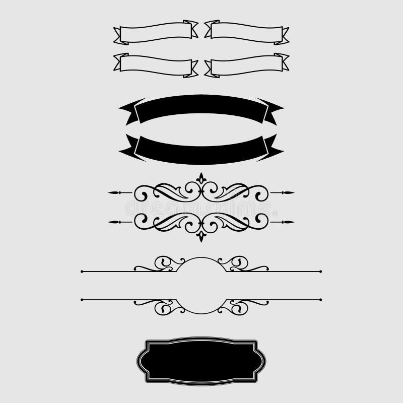 DISEÑO DEL VECTOR DEL VINTAGE DEL ORNAMENTO ilustración del vector