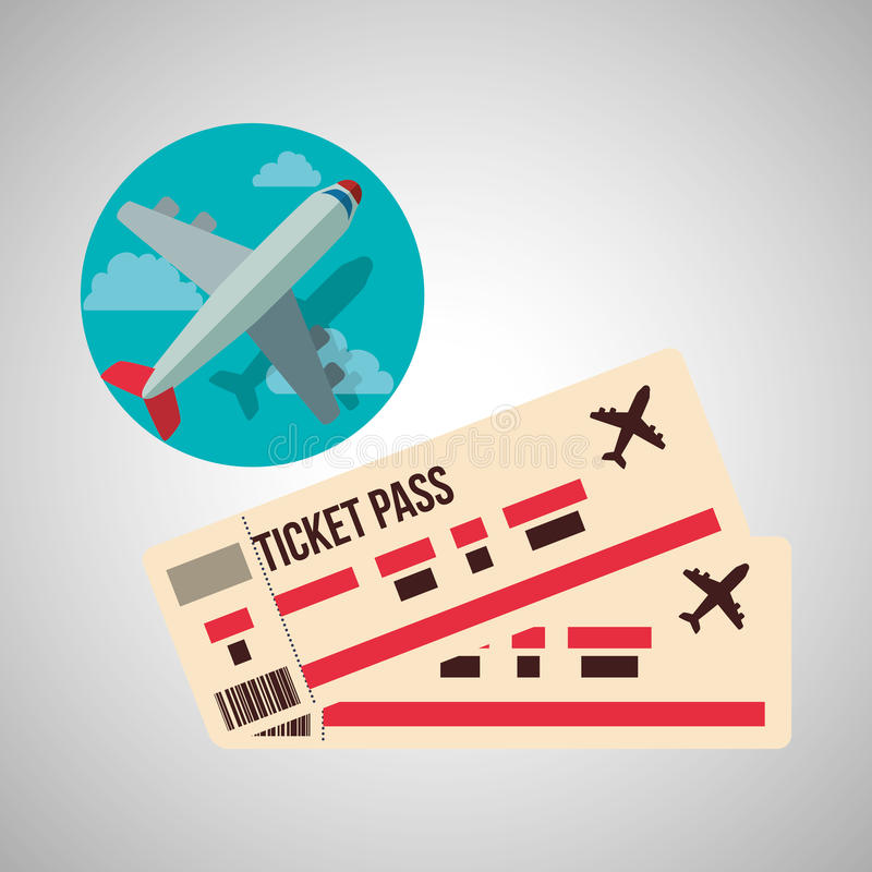 Diseño del viaje Icono del viaje Ejemplo plano stock de ilustración