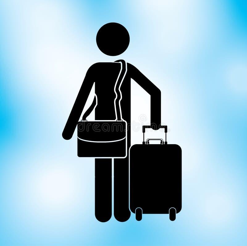 Diseño del viajero stock de ilustración