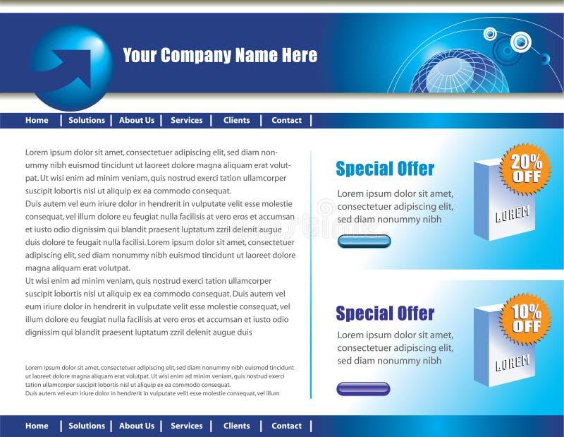 Diseño del Web page ilustración del vector