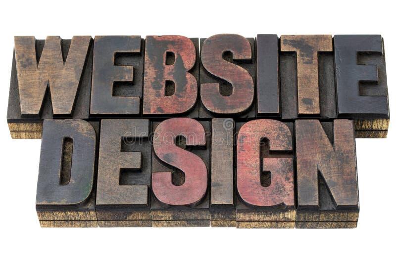Diseño del Web site en el tipo de madera fotos de archivo libres de regalías