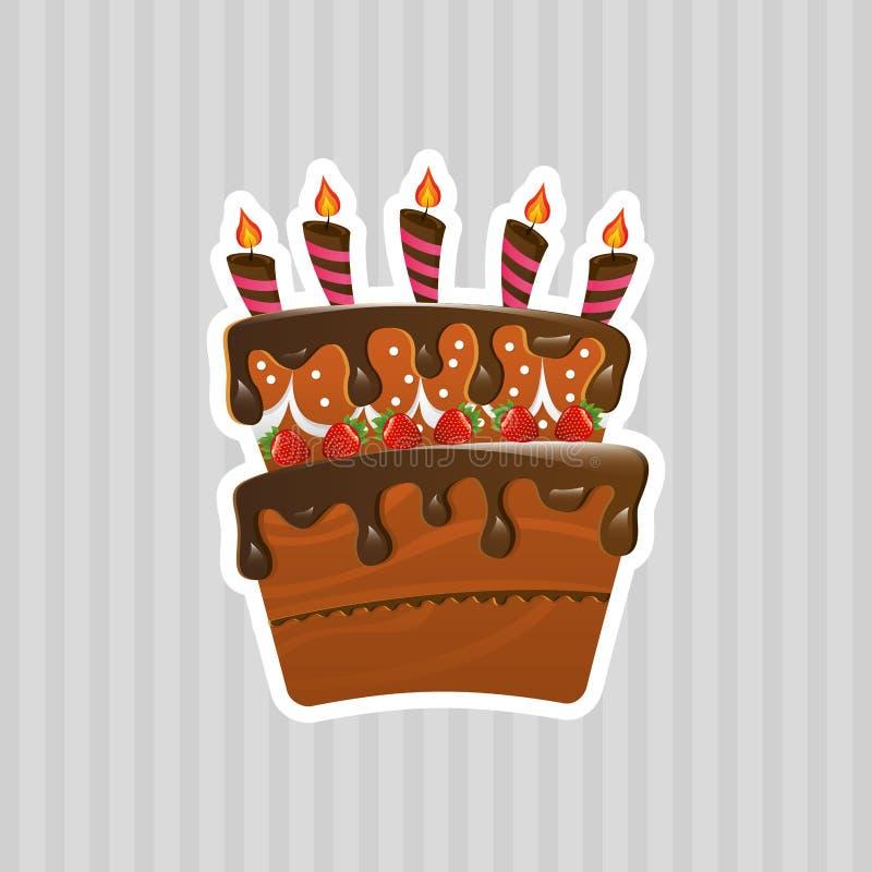 diseño delicioso de la tienda de pasteles stock de ilustración