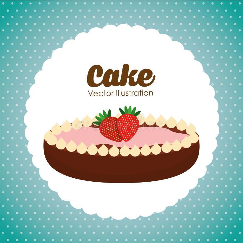 Diseño delicioso de la torta stock de ilustración