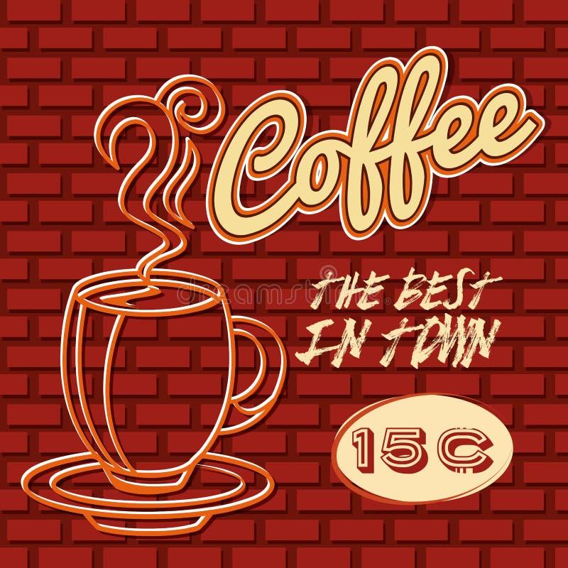 Diseño delicioso del café stock de ilustración