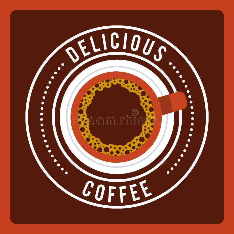 Diseño delicioso del café libre illustration